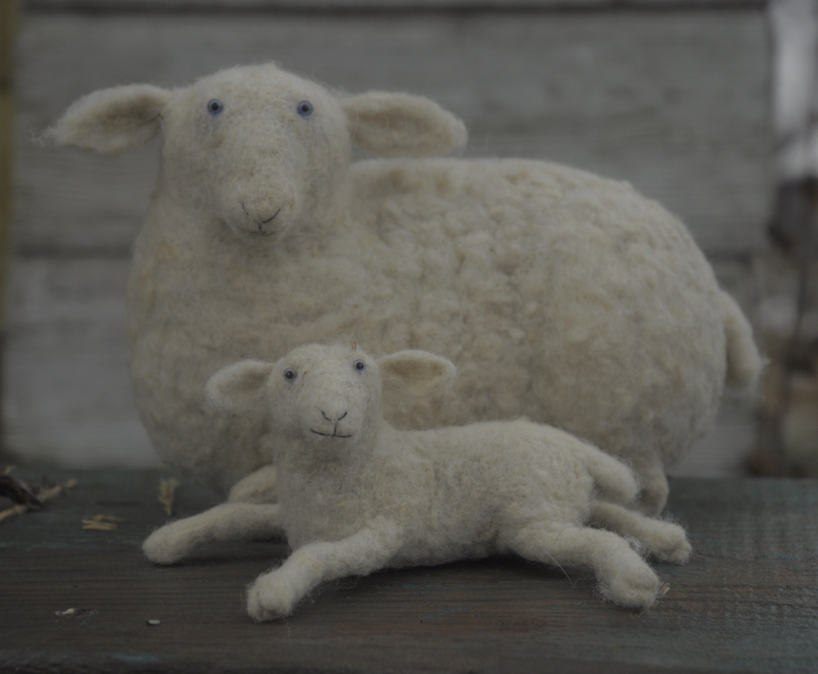 sheep with a lamb